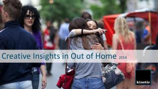 Creative Insights in Out of Home  2014