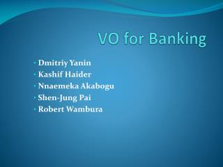 VO for Banking