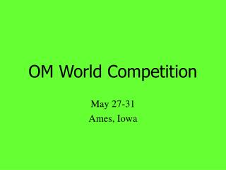 OM World Competition