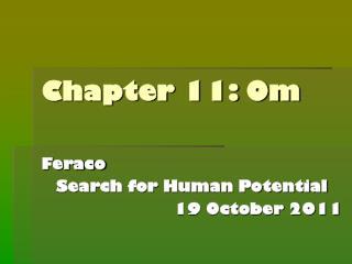 Chapter 11: Om