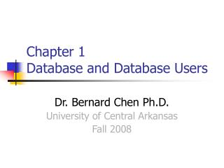 Chapter 1  Database and Database Users