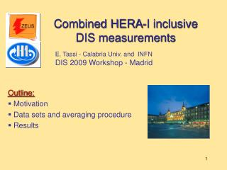 Combined HERA-I inclusive  DIS measurements