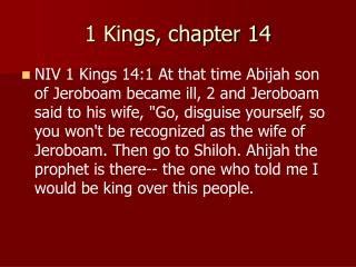 1 Kings, chapter 14