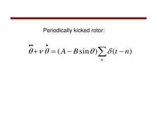 Periodically kicked rotor: