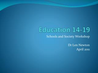 Education 14-19