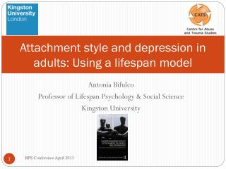 Attachment style and depression in adults: Using a lifespan model