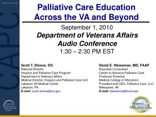 Palliative Care Education  Across the VA and Beyond