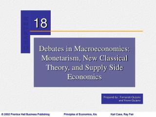 Debates in Macroeconomics:  Monetarism, New Classical Theory, and Supply Side Economics