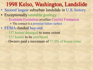 1998 Kelso, Washington, Landslide
