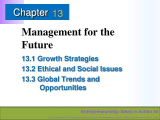 Management for the Future