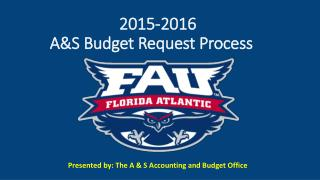 2015-2016  A&S Budget Request Process