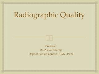 Screen-Film Radiography I