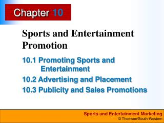 Sports and Entertainment Promotion