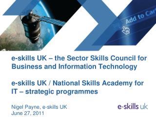 e-skills UK mission