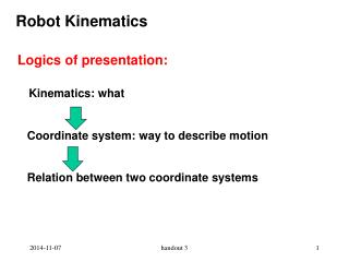 Robot Kinematics