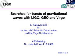 Gravitational wave bursts