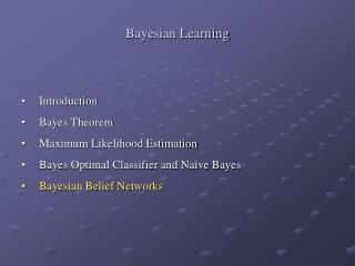 Bayesian Learning