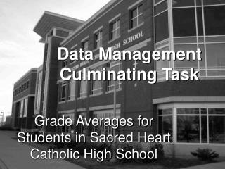 Data Management Culminating Task