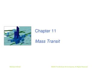 Chapter 11 Mass Transit