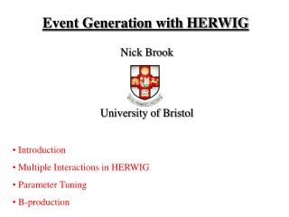Event Generation with HERWIG