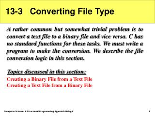 13-3   Converting File Type