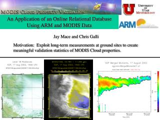 An Application of an Online Relational Database Using ARM and MODIS Data