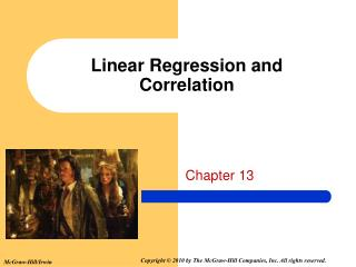 Linear Regression and Correlation