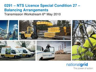 0291 – NTS Licence Special Condition 27 – Balancing Arrangements