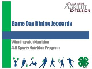 Game Day Dining Jeopardy
