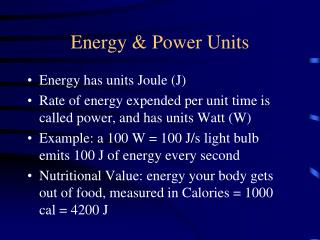 Energy & Power Units