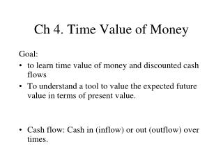 Ch 4. Time Value of Money