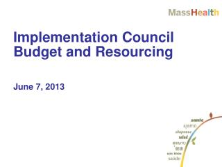 Implementation Council Budget and Resourcing