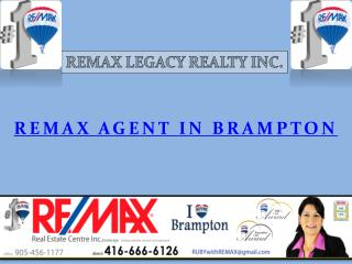 Remax Agent in Brampton
