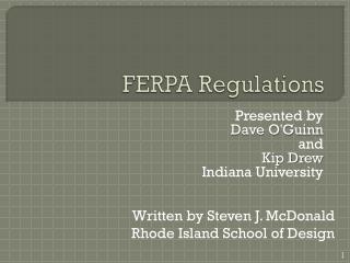 FERPA Regulations