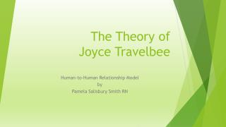 The Theory of  Joyce Travelbee