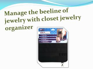 Manage the beeline of jewelry with closet jewelry organizer