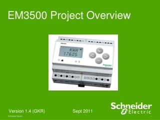 EM3500 Project Overview