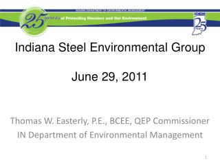 Indiana Steel Environmental Group June 29, 2011