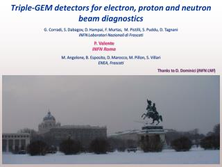 Triple-GEM detectors for electron, proton and neutron beam diagnostics
