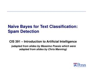 Naïve Bayes for Text Classification: Spam Detection