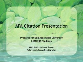 APA Citation Presentation