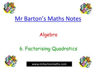 Mr Barton's Maths Notes