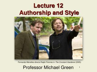 Lecture 12  Authorship and Style