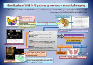 Identification of CFAE in AF patients by  mechano  – anatomical mapping