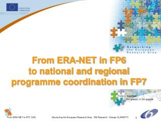 From ERA-NET in FP6 to national and regional  programme coordination in FP7