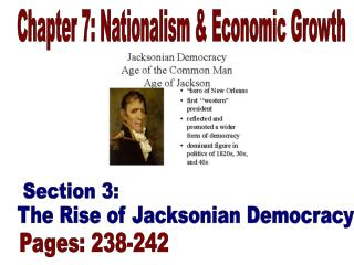 Chapter 7: Nationalism & Economic Growth