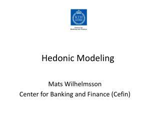 Hedonic Modeling
