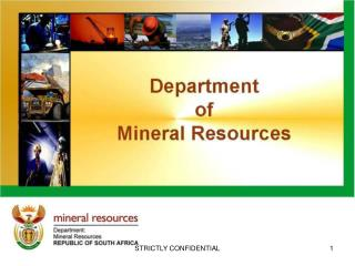 PRESENTATION TO THE PARLIAMENTARY SELECT COMMITTEE ON FINANCE: MINING CHARTER IMPACT ASSESSMENT