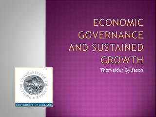 Economic Governance  and Sustained Growth