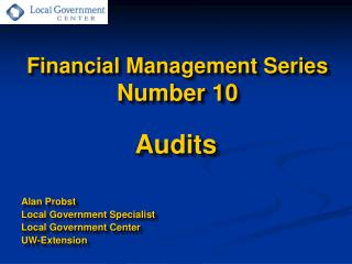 Financial Management Series Number 10